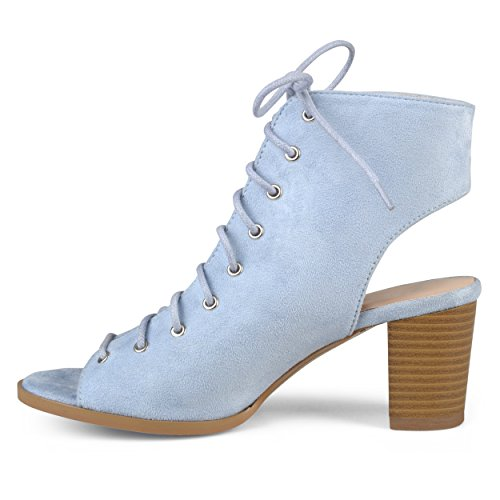 Journee Collection Womens Lace-up Faux Suede High Heel Booties Blue 7pHmjgw