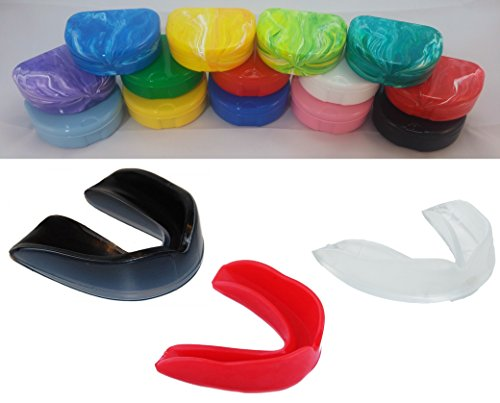 Martial Arts Mouth Guard Mouthguard & Case Set -Different Colors Available - Great for Karate Taekwondo Boxing Kickboxing MMA