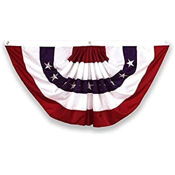 Amazon Com Evergreen Flag Medium Pleated American Flag