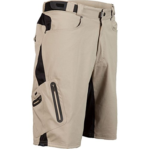 Zoic Men's Ether Cycling Shorts, Tan, Large