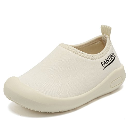 CIOR Kids Slip-on Casual Mesh Sneakers Aqua Water Breathable Shoes For Running Pool Beach (Toddler/Little Kid) SC1600 White 20 0