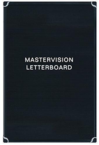 MasterVision Letter Board 24'' x 36'', Black with Aluminum Frame by MasterVision