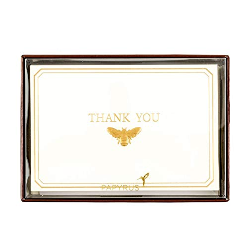 (Golden Bee Boxed Thank You Notes (Set of 16))