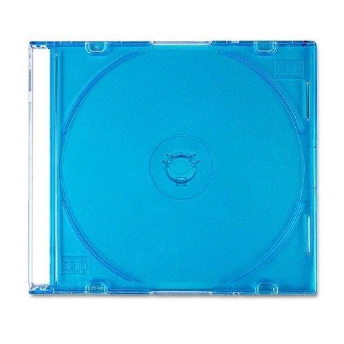 100 SLIM BLUE Color CD Jewel Cases ()