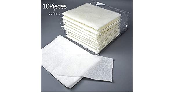10 Pieces of HEPA Electrostatic Filter Cotton Fabric Filtering Net Compatible with Air Purifier 28 x 12 10 Pieces