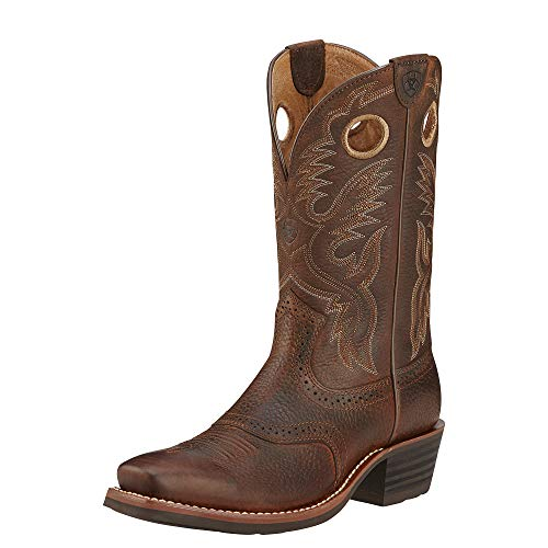 ARIAT Men's Heritage Roughstock Western Boot Brown Oiled Rowdy Size 6 M Us