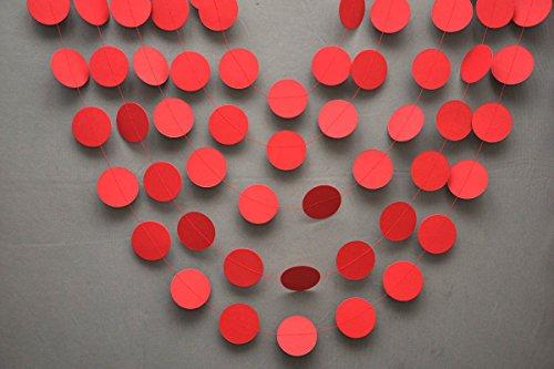 Red-Garland-red-wedding-decor-Wedding-garland-Wedding-decorations-Red-circle-garland-Red-party-decorations-Bridal-shower-decor