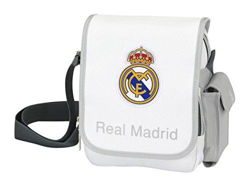 Safta 048454 Real Madrid Borsa a Tracolla, Colore: Bianco/Grigio