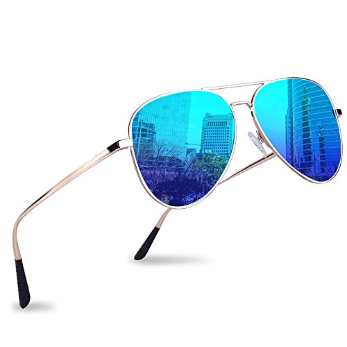 Polarized Aviator Sunglasses Durable Mirrored product image