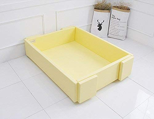 MAMING Speed Bumper Bed Eco friendly oversize Playmat (Cream Lemon)
