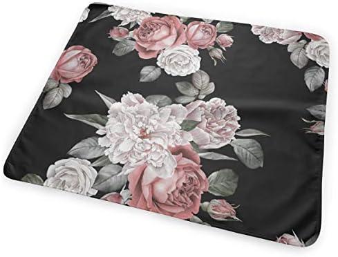 Red Roses And Peonies Floral 小さいながらも軽くて柔らかく快適な折り畳みが簡単なハイエンドのファッションシンプルなポップ絶妙なおむつパッド