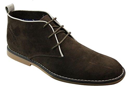 Voeut Mens Suede Ankle Desert Boots DST 101 - Brown aRUIe9