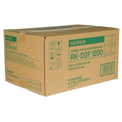 Fujifilm RK-D2T1200 4x6'' Dye Sub Media for the ASK-2000/2500 Dye Sublimation Digital Photo Printer, 2 Rolls, 1200 Total Prints by Fujifilm