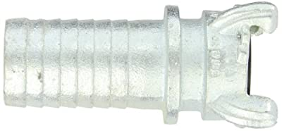 Dixon Air King AM Series Iron Air Hose Fitting, 4 Lug Quick Acting Coupling, Hose End Barbed