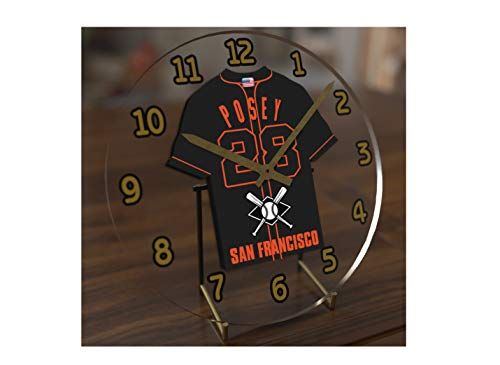 - FanPlastic M L B Baseball Jersey Themed Clock - All National League Team Colours - Our Very OWN 'Let's GO' Range of Clocks !! (Let's Go Giants Edition)