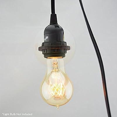 Fantado Modern Metal Hardwire Cord Kit Ceiling Pendant Light Fixture w/ Braided Cloth Cord