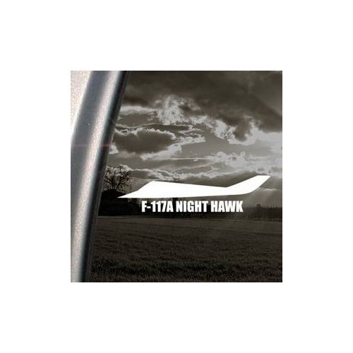 Window Hawk Adhesive (F-117A Night Hawk Military Soldier White Color Window Car Macbook Home Decor Bike Adhesive Vinyl Laptop Decor Decoration Wall Art Die Cut Helmet Sticker)