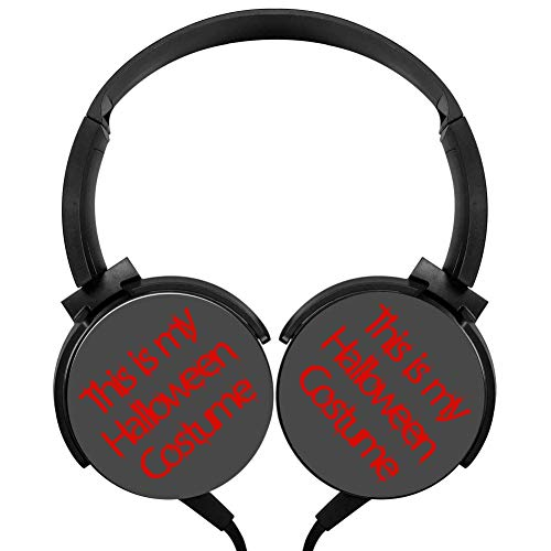 This is My Halloween Costume Headphones 3D Printed Over-Ear Lightweight Headphone for Kids Men -
