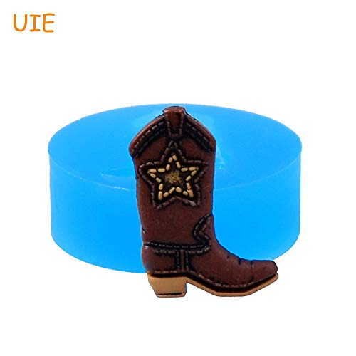 1 piece FYL486U 22.4mm Cowboy Boot Flexible Silicone Mold - for Dessert Cake Decorating Fondant Cookie Biscuit Resin Chocolate Wax -