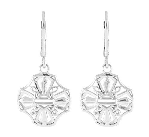 Harley-Davidson Womens .925 Silver Pierced Cross Dangle Earrings