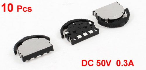 10 Pcs On/Off 3-Position 3-Pin Horizontal Mini SMD SMT Silde Switch