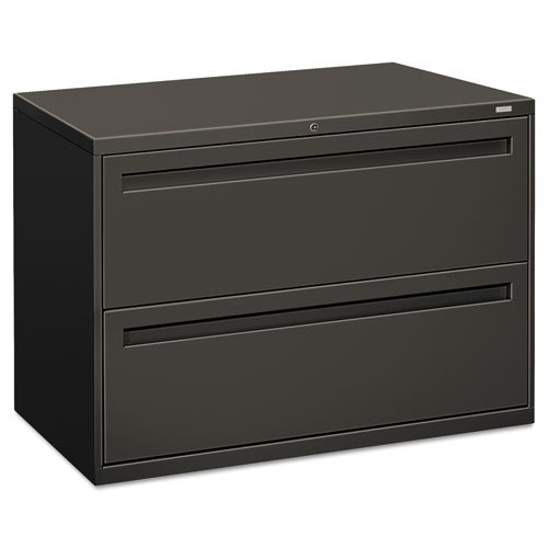 Hon 700 Series Lateral Files - HON 792LS 700 Series 42 by 19-1/4-Inch 2-Drawer Lateral File, Charcoal