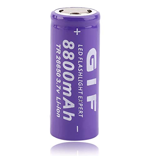 - AIkong 3.7V 26650 8800mAh Li-ion Rechargeable Battery for LED Flashlight Torch Purple