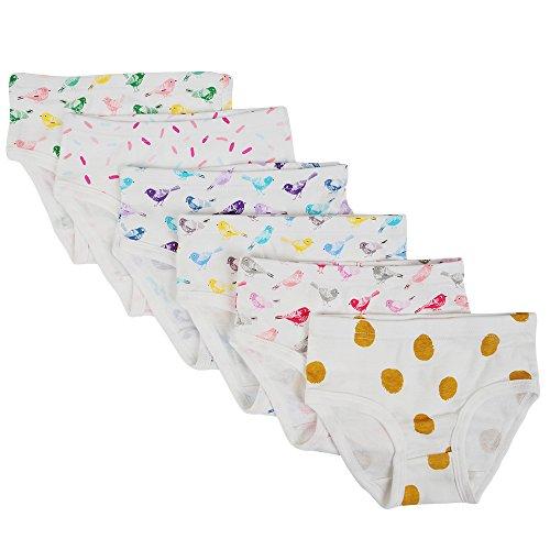 Closecret Kids Series Baby Soft Cotton Panties Little Girls' Assorted Briefs(Pack of 6) (3-4 Years, - Underwear Soft Girls