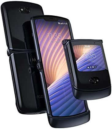 Motorola Razr 5G | Unlocked | Made for US via Motorola | 8/256GB | 48MP Camera | 2020 | Polished Graphite