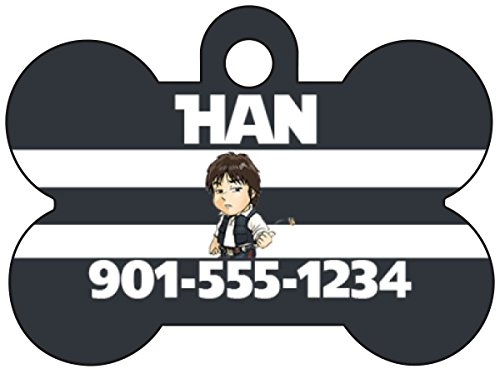 Disney Star Wars Han Solo Pet Id Dog Tag Personalized w/ Name & Number]()