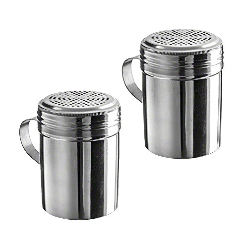 (Pack of 2) 10 oz Stainless Steel Dredges With Handle