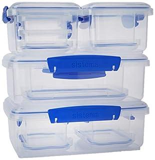 Sistema KLIP IT Rectangular Collection Food Storage Containers, Clear/Blue, 10-Piece Set (B004OEKK1C) | Amazon price tracker / tracking, Amazon price history charts, Amazon price watches, Amazon price drop alerts