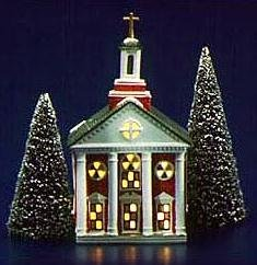 Dept 56 Original Snow Village Colonial Church 5119-5 by Dept 56 Original Snow Village