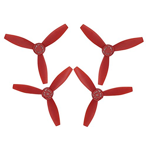 Inverlee Upgrade Rotor Propellers Props for Parrot Bebop 2 Drone Carbon Fiber Composites (Red)