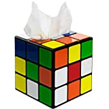 getDigital Magic Cube tissue box cover inspired by the Big Bang Theory - Decorative holder for square tissue boxes with a secure magnetic lock - 14 x 14 x 14 cm