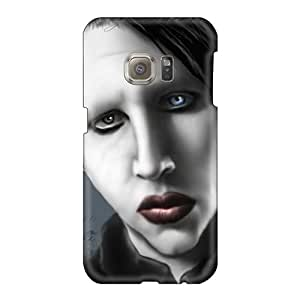 High Quality Hard Cell-phone Case For Samsung Galaxy S6 (ahC279izQX) Customized Fashion Marilyn Manson Band Pictures
