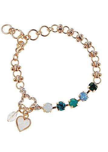 98edb5d66 Multicolore Cristal Bracelet avec de jolies Charm en forme de cœur en or  Tone