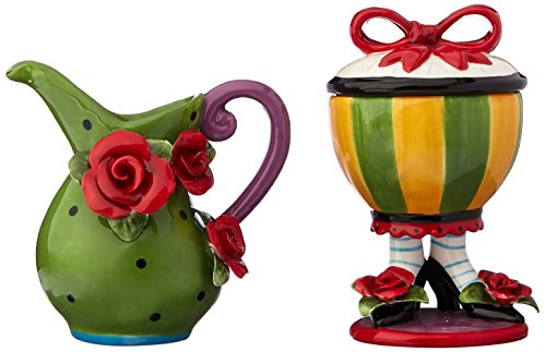 Appletree Design Sugar High Social Sugar and Creamer Set (Whimsical Tea Sets)