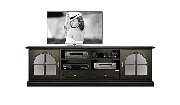 Arteferretto Mueble TV Color Negro, Mueble de salón 2 Metros ...