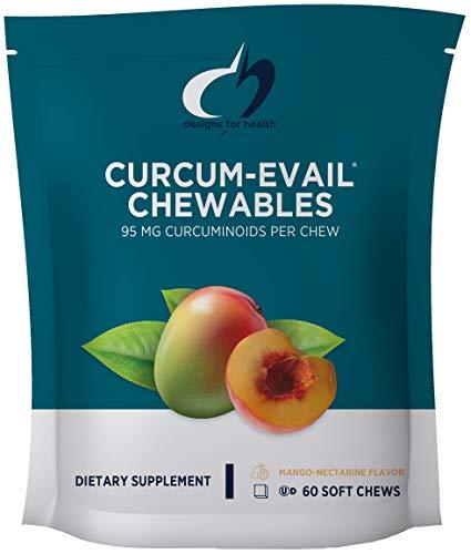 Flavor 60 Chew - Designs for Health Curcum-Evail - Curcumin Chewables in Mango-Nectarine Flavor (60 Chews)