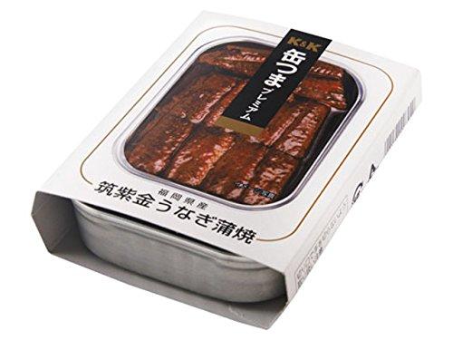 K&K 缶つまプレミアム 福岡県産筑紫金うなぎ蒲焼 95g x6