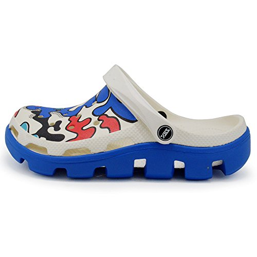 Polliwoo Unisex Adulto Zuecos Zapatillas de playa Sandalias, jardín interior Zapatos Azul marino