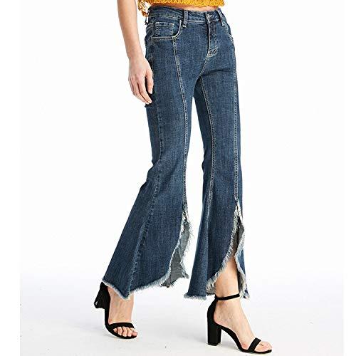 A Gamba Jeans Mvguihzpo Pantaloni Cowboy Zampa Nuovi Fondo L Jeans Donna Vita Campana Blu Grandi D'elefante Extra S Divisa IHIvq