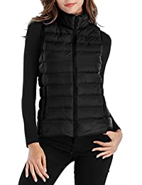 Womens Packable Ultra Lightweight Down Vest Outdoor Puffer Vest