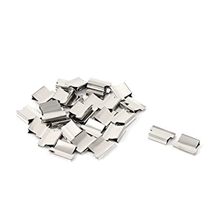 DealMux metal Clam Clipe Folha de papel dispensador grampeador Fastener 29 Pcs Silver Tone