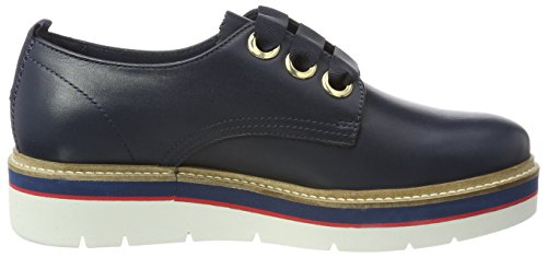 4a Derby Hilfiger para de Tommy Cordones Azul Tommy Zapatos M1285anon Mujer Navy AxZppY