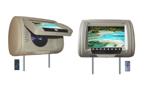 Tview T939DVPL-TN Car Headrest Monitor with DVD Player - Tan