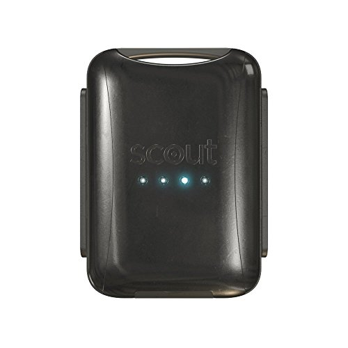 Scout (Black) Universal Vehicle GPS Tracker Anti theft W/ Real Time GPS Location And Movement Alerts W/ FREE Hardwire Kit