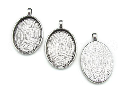 20 CleverDelights Oval Pendant Trays