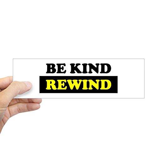 "Price comparison product image CafePress - Be Kind Rewind - 10""x3"" Rectangle Bumper Sticker Car Decal"